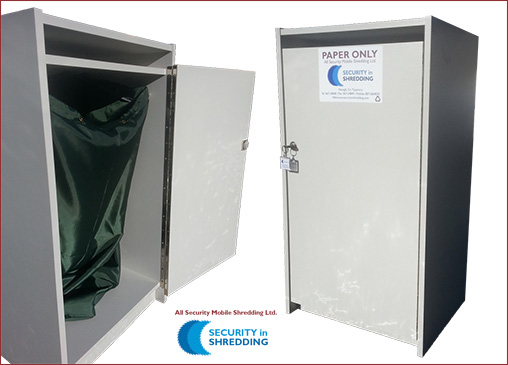 paper shredding and document shredding secure lockable console bins