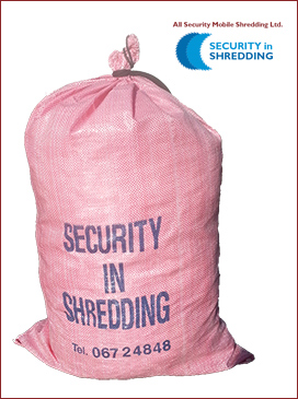 paper shredding and document shredding collection bags