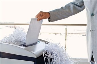 Paper Shredding, Office shredder NOT a secure way to destroy documents.