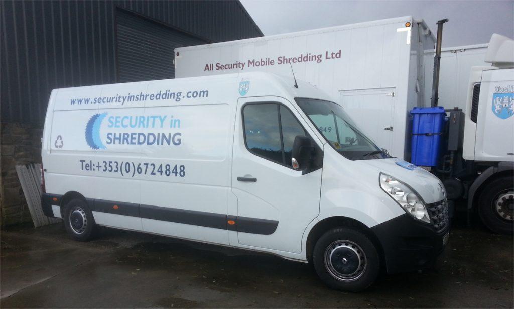 Van collection & same day shredding.