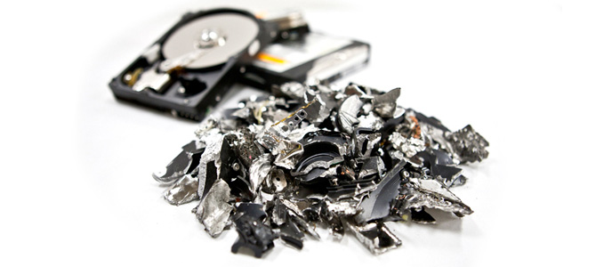 harddrive destruction, Media Destruction, Confidential Shredding Service